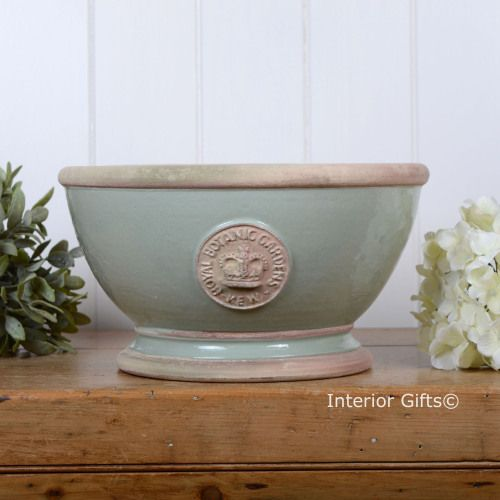 Kew footed bowl in chartwell green royal botanic gardens plant pot kew footed bowl in chartwell green royal botanic gardens plant pot interiorgifts workwithnaturefo