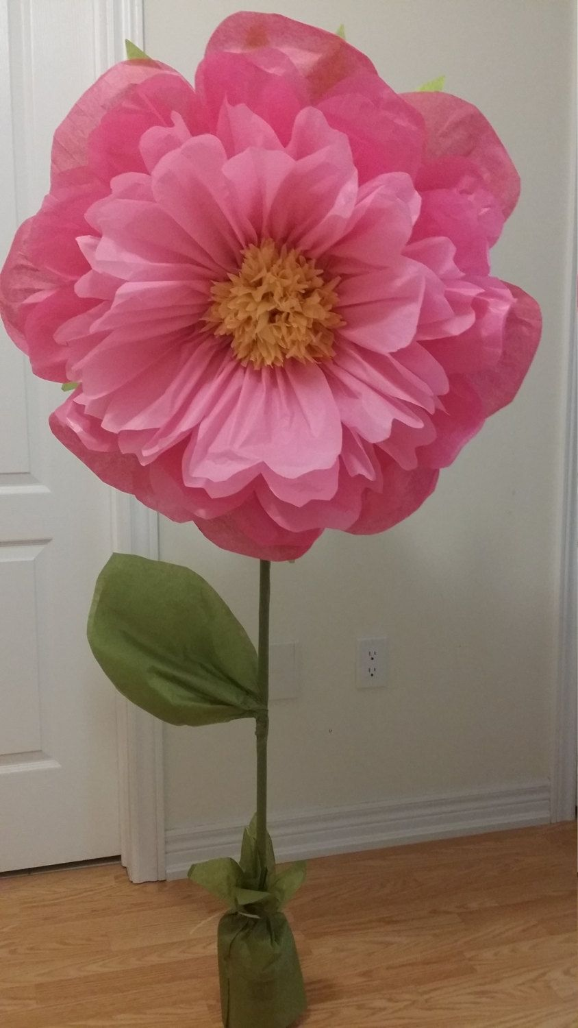 Giant Standing Paper Flowers 30 To 15 Tissue Paper Pom Pom