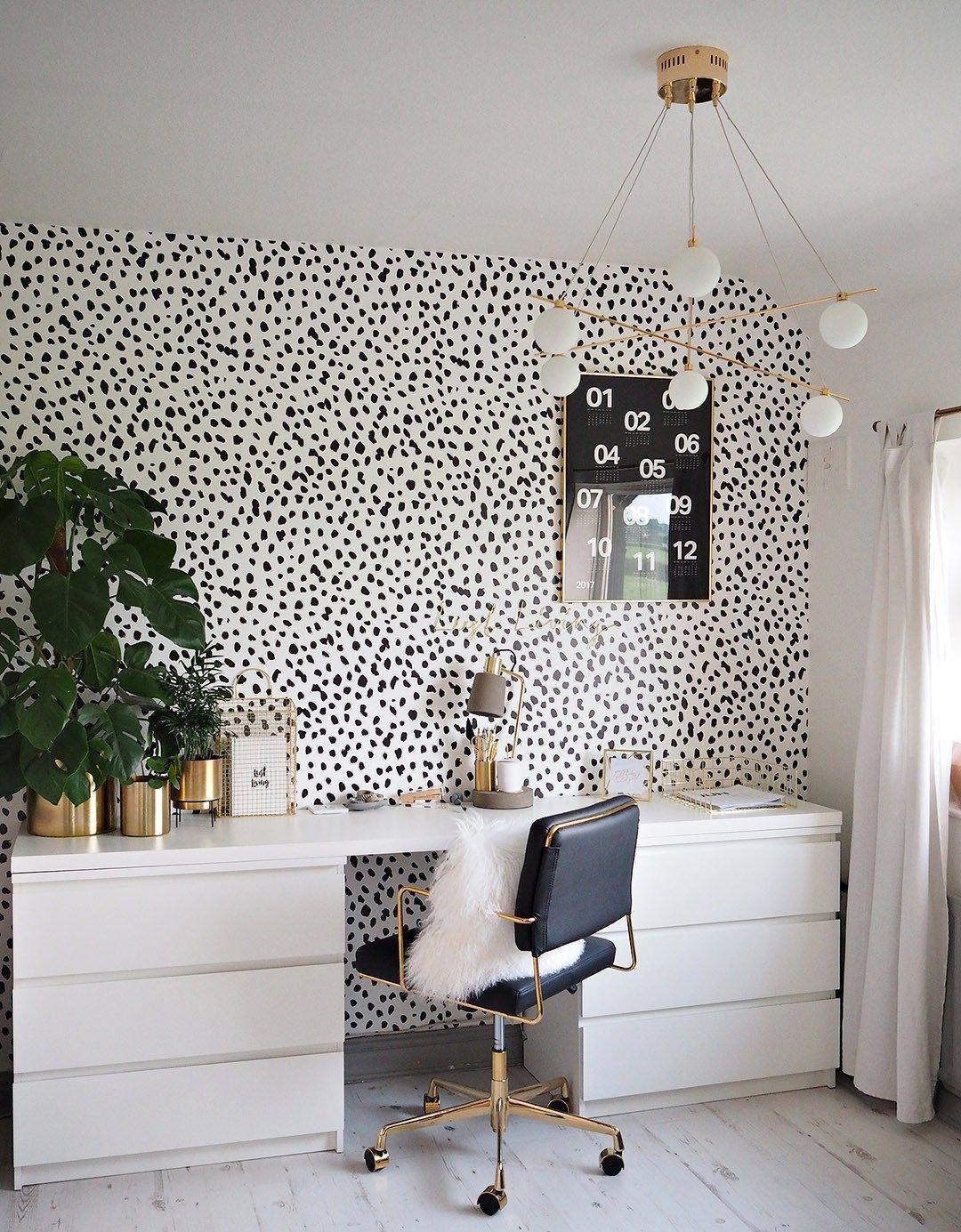 olivia lust living home office gold black and white study rh pinterest com