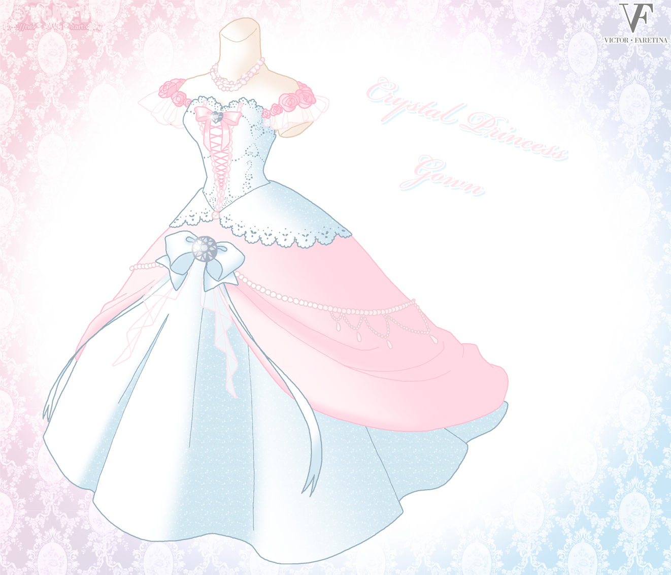 Crystal princess gown by neko vi deviantart com on deviantart