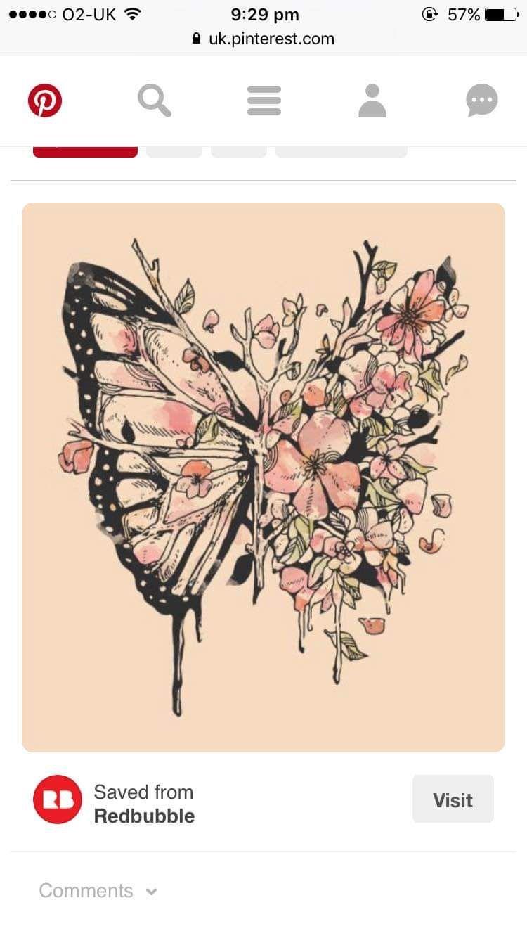 Photo of Half butterfly half flower