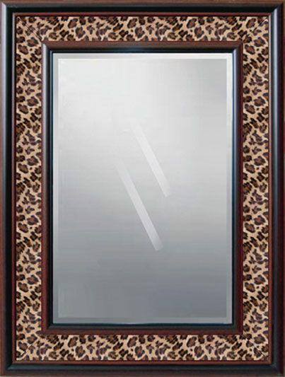 cheetah bathroom decor leopard mirror pinteres