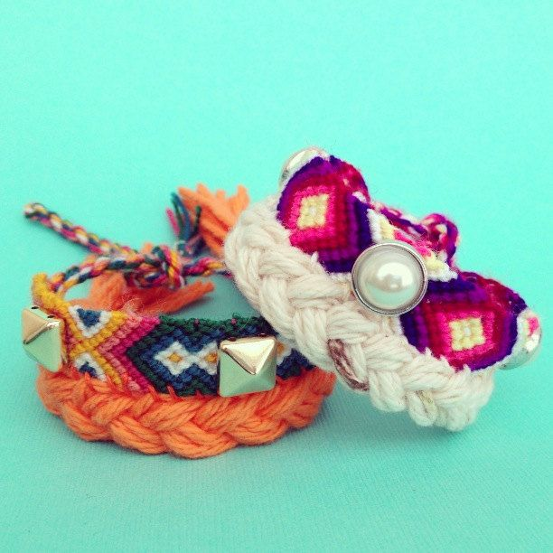 ORANGE friendship bracelet by LOLAjewelryd on Etsy