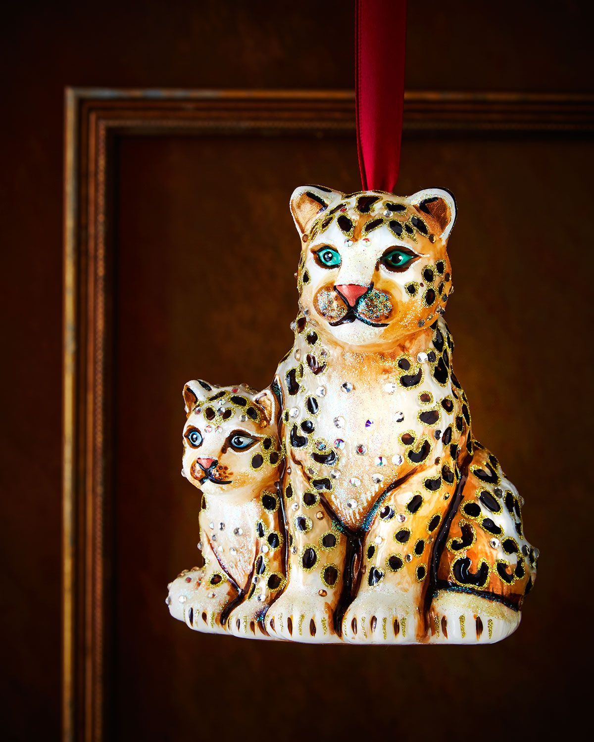 New baby christmas ornament - Shop Mom Baby Snow Leopards Christmas Ornament From Jay Strongwater At Horchow Where You Ll Find New Lower Shipping On Hundreds Of Home Furnishings And