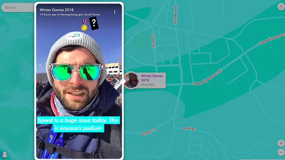 Snapchat takes us inside the Olympics like never before