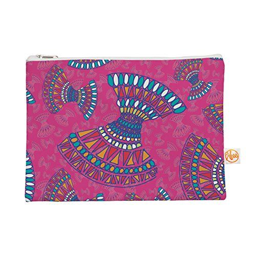 "Kess InHouse Everything Bag Flat Pouch by Miranda Mol 8.5 x 6 Inches ""Tribal Fun Pink"" Magenta Abstract (MM4090BEP01) Kess InHouse http://www.amazon.com/dp/B00XBNOLUS/ref=cm_sw_r_pi_dp_5ESzvb0KGE2NM"