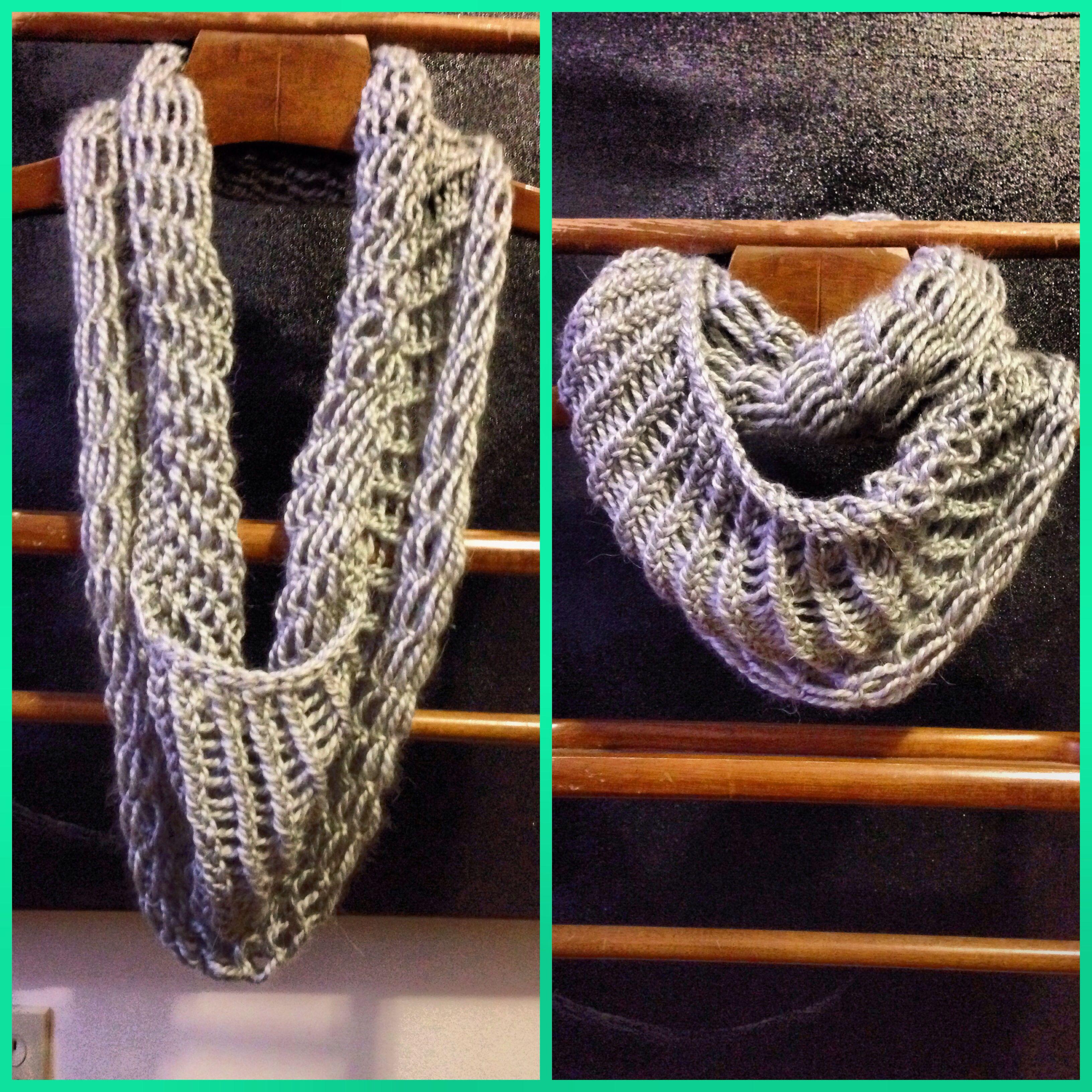 Loose knit infinity scarf made on Martha Stewart loom-yarn 82 ...