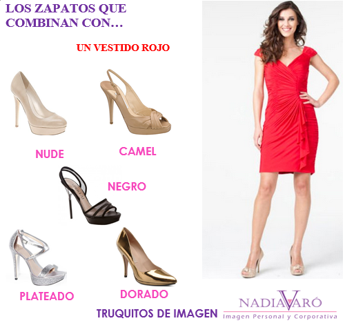 Los Zapatos Que Combinan Con Un Vestido Rojo En 2019
