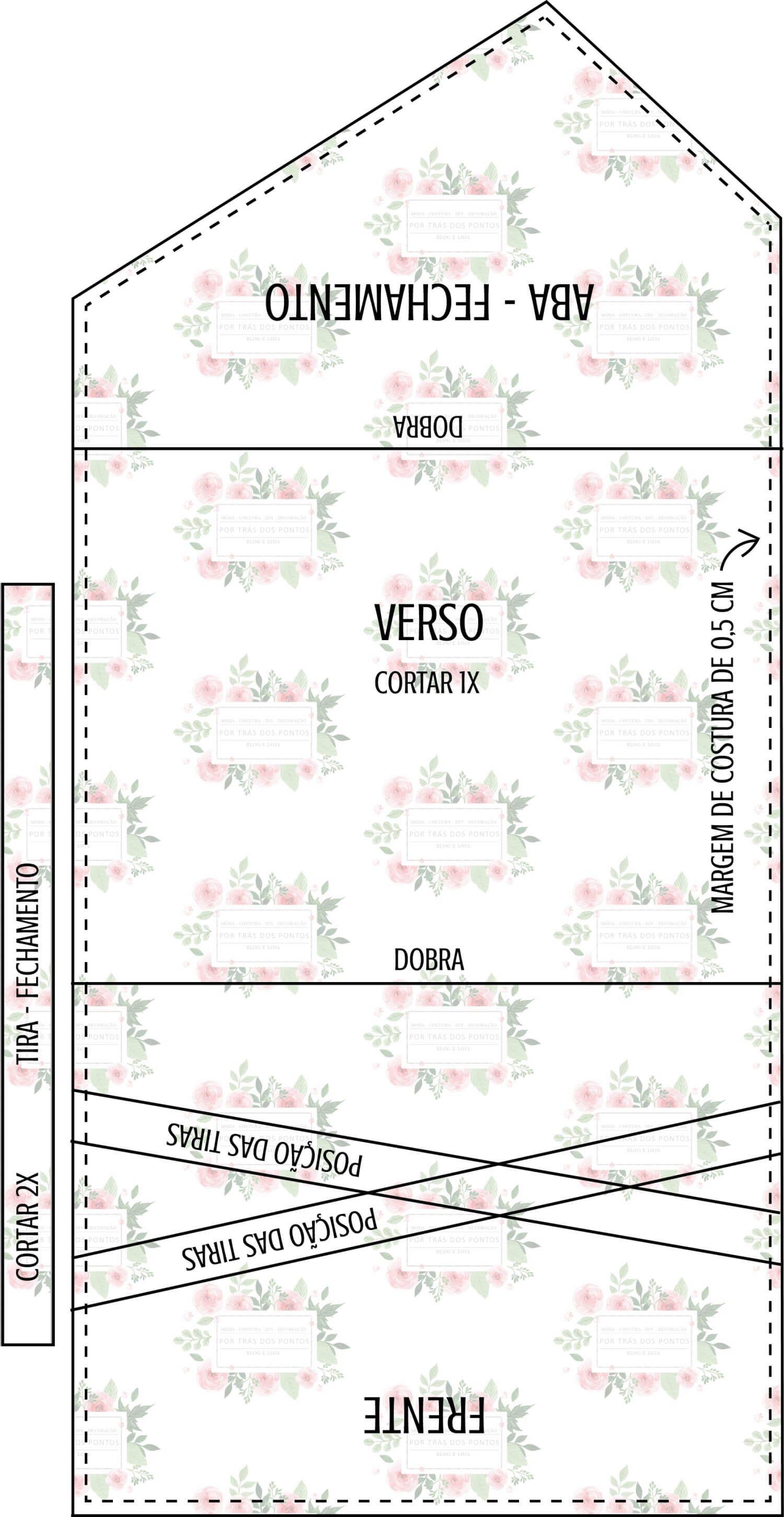 DIY Bolsa Envelope + Molde p/ Imprimir | Bolsa envelope | Pinterest ...