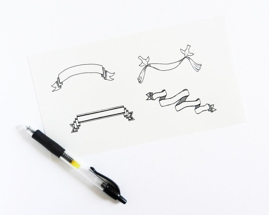 Hand Drawn Banner Tutorial With Images Banner Drawing How To Draw Hands Hand Lettering Inspiration