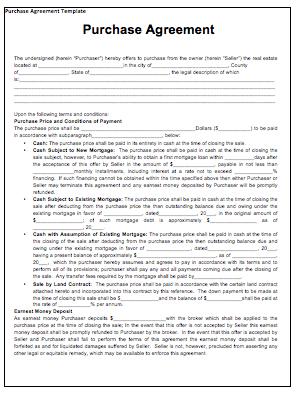 Purchase Contract Template | Tips U0026 Guidelines   Purchase Contract Template