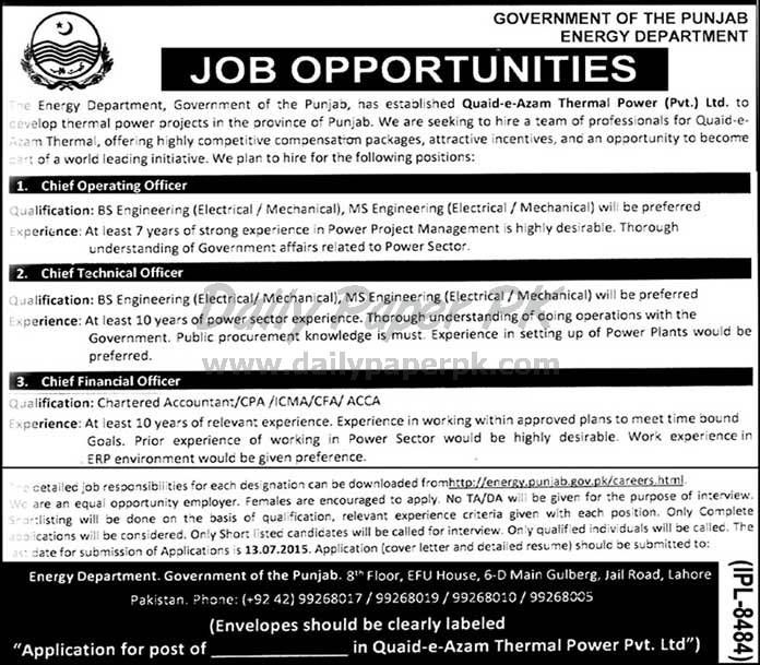 Job Opportunities in Quaid-e-Azam Thermal Power Pvt Ltd Lahore Govt of Punjab For #jobs detail and how to apply: #paperpk http://www.dailypaperpk.com/jobs/238018/job-opportunities-quaideazam-thermal-power-pvt-ltd-lahore-govt-punjab