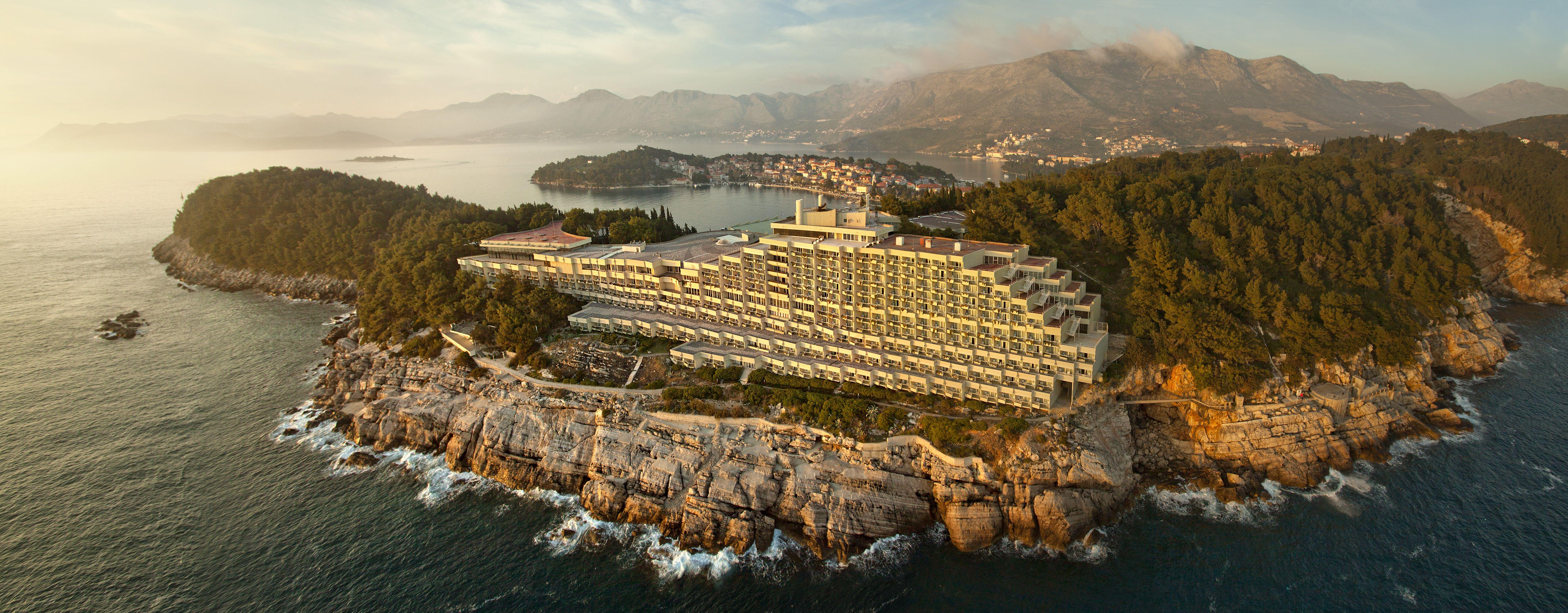 Hotel croatia cavtat hotel aerial view adriatic luxury hotels