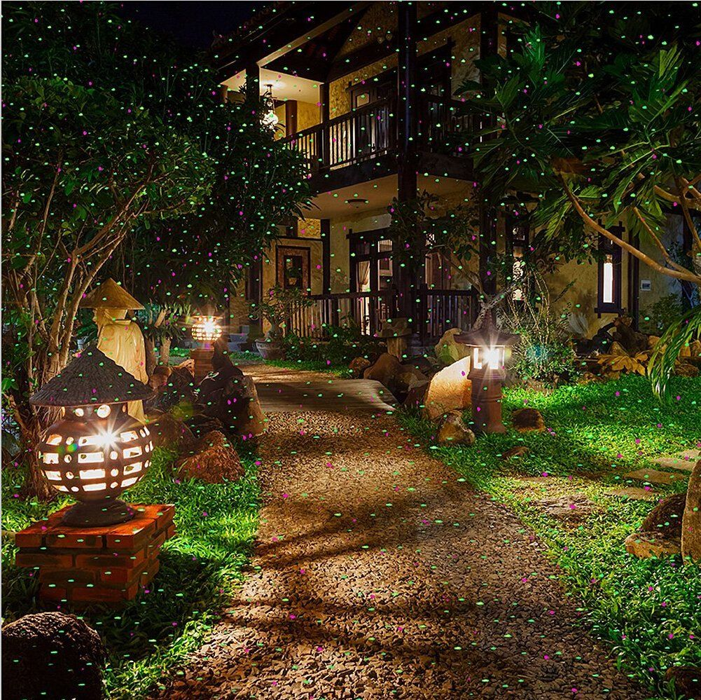 Amazon Com Pepnice Red And Green Firefly Laser Light Sparkling Landscape Projector Landscape Lighting Outdoor Battery Lights Battery Operated Lights Outdoor