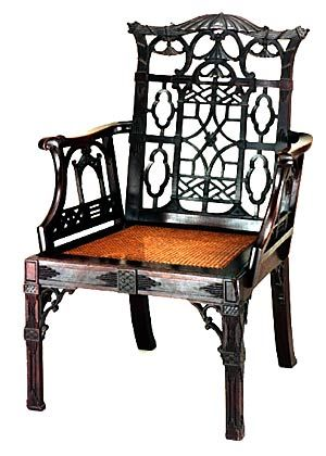 chinese chippendale chair, colonial williamsburg.(are we still