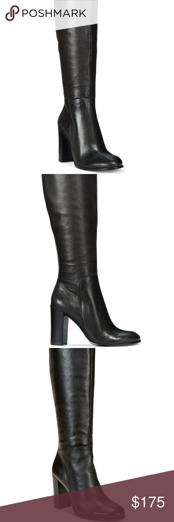 6cc4e69a17c8b Kenneth Cole New York Women's Justin Block-Heel Sophistication with a flair  for the daring. Kenneth Cole New York's Justin boots mix sleek, polished  leather ...