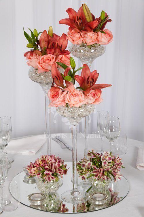 beautiful 3 size vases with seasonal flowers and 2 mini fishbowls rh pinterest com