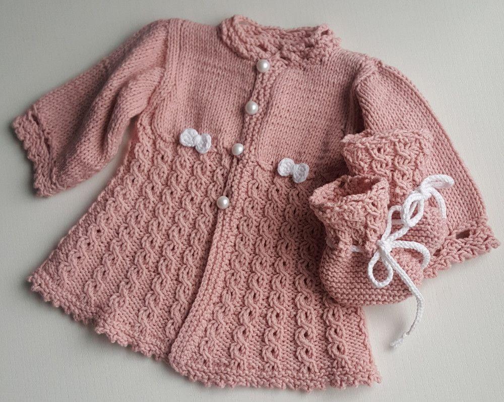 Babyschuhe Mantel Altrosa Weiss Schleife Set Mantel Altrosa Modestil Kleid Baby