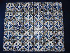 30 Tile Carrelage Carreau Ancien Desvres Fleur De Lys Deco Cuisine
