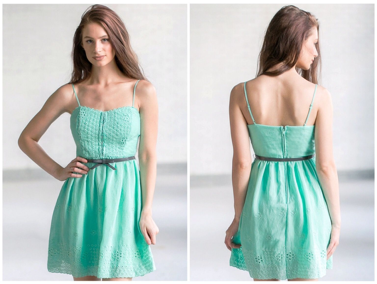 This mint sundress comes with an included belt: http://ss1.us/a ...