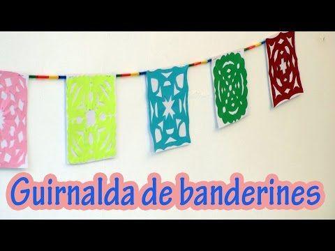 Youtube Guirnalda De Bandera Manualidades Manualidades Fáciles