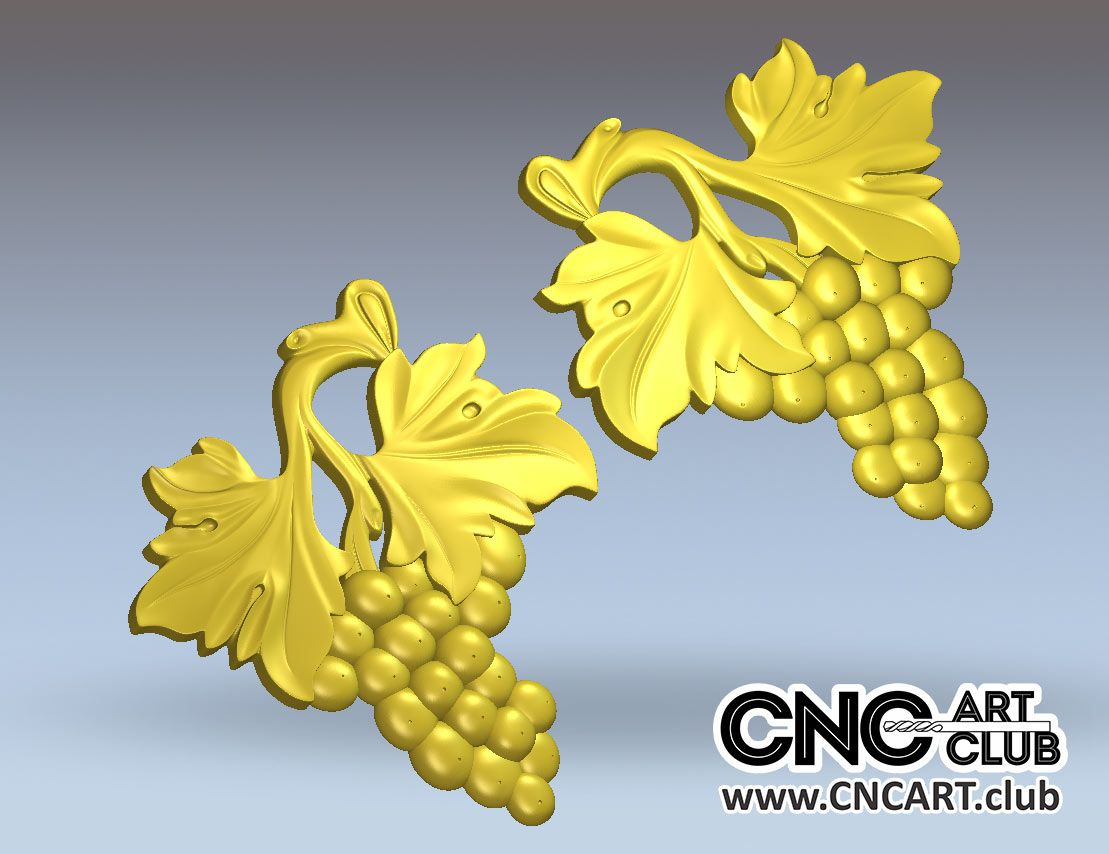 3D 90001 Download FRee STL Files For CNC Work. Grape 3d