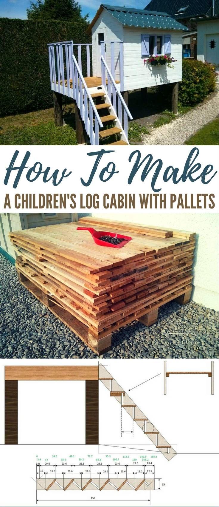 How To Make a Childrenu0027s Log Cabin