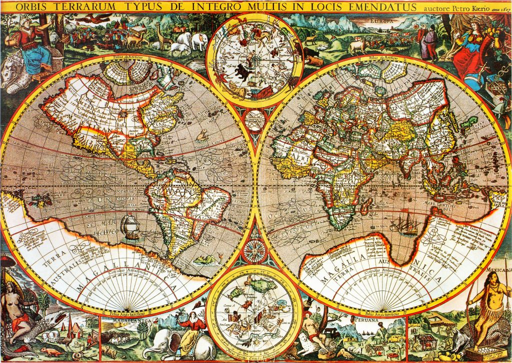 Antique 17th century world map puzzle in puzzle of the day jigsaw antique 17th century world map puzzle in puzzle of the day jigsaw puzzles on thejigsawpuzzles gumiabroncs Images