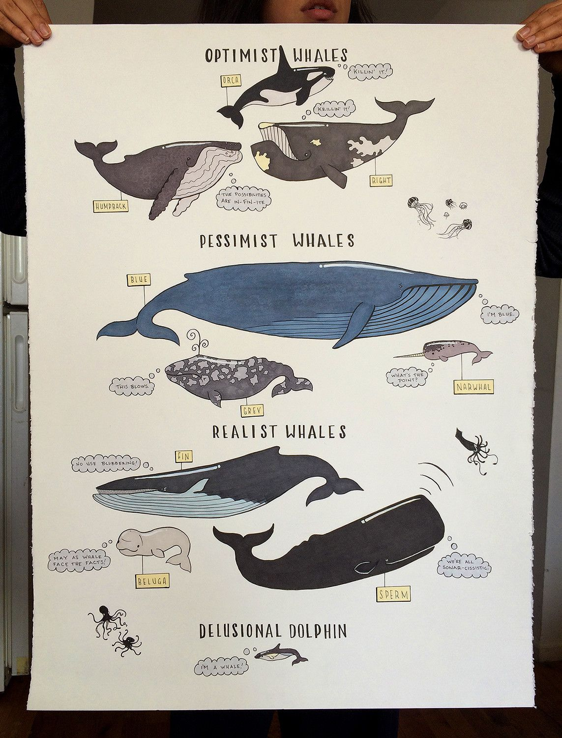 whale poster illustrations drawings and sketches