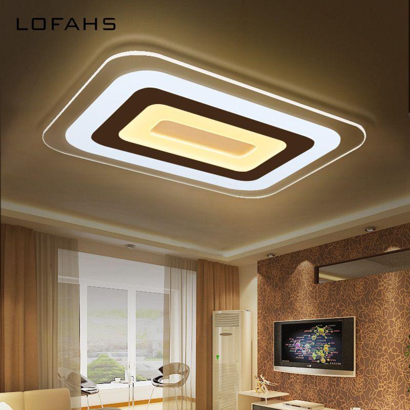 lofahs super thin modern led ceiling chandelier lamp living room rh pinterest com