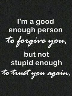 Be good, not stupid!