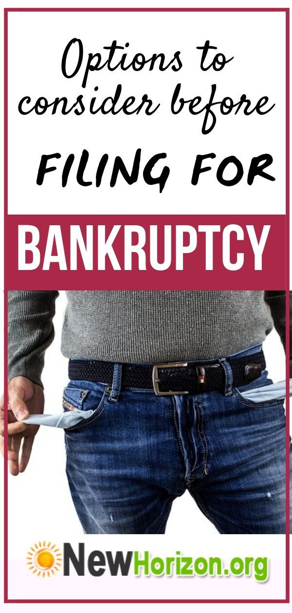 Options to Consider Before Filing for Bankruptcy