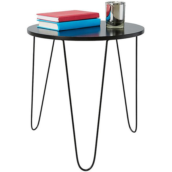 round side table with hair pin legs black target australia 18 rh pinterest com au