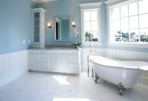 La couleur salle de bain - 15 idées pour vous inspirer - salle de bain en bleu