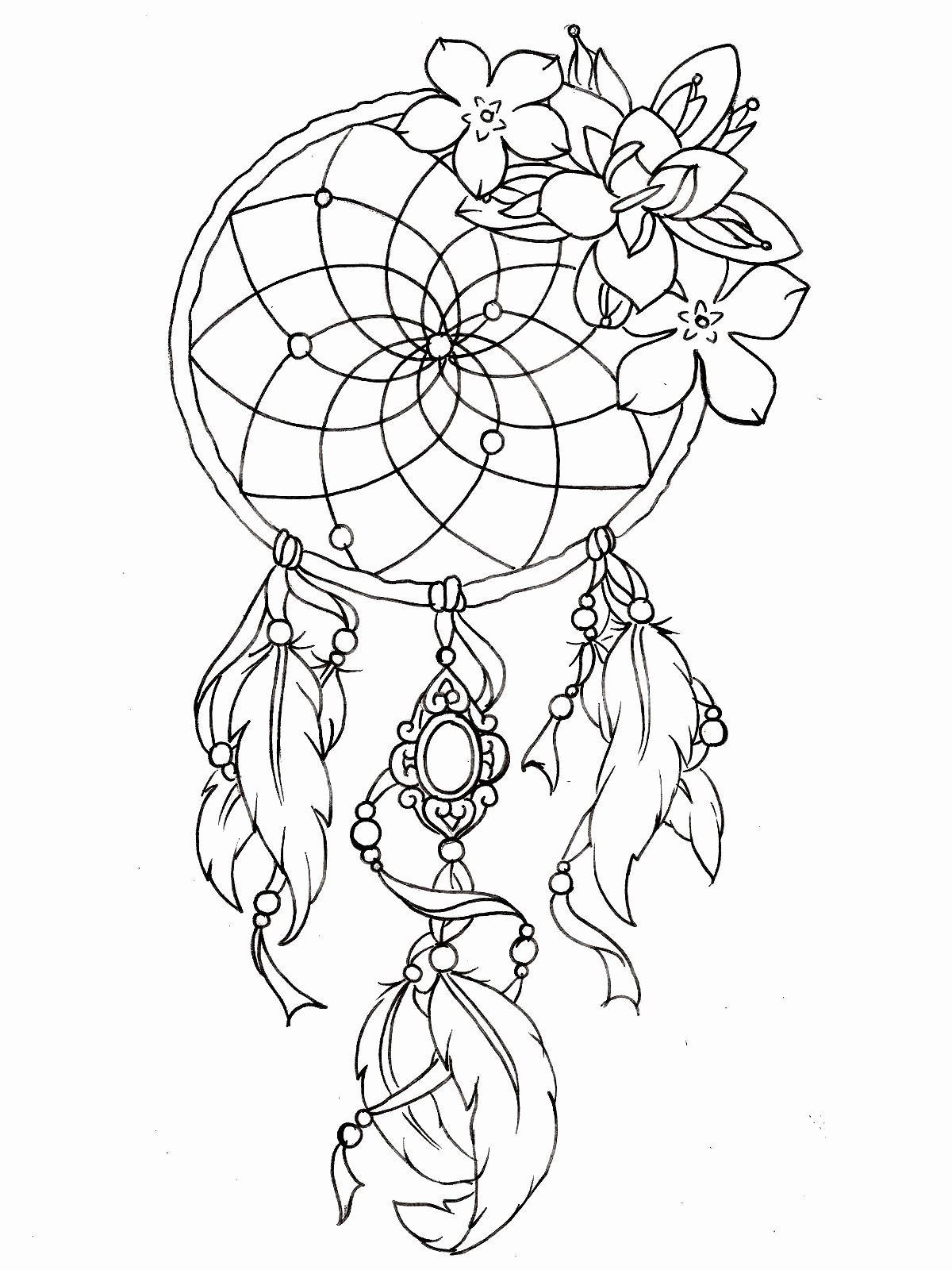 Dream Catcher Coloring Page Best Of Dream Catcher Coloring Pages