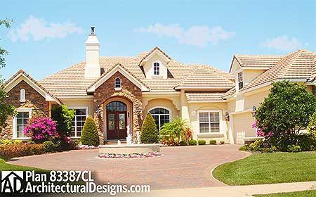 Plan 83387CL Luxurious French Country House Plan Bonus