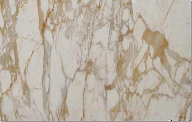 faux marble white floor tile with gold metallic vein | Calacatta Ora – you can see the goldish veining. Sometimes the gold ...