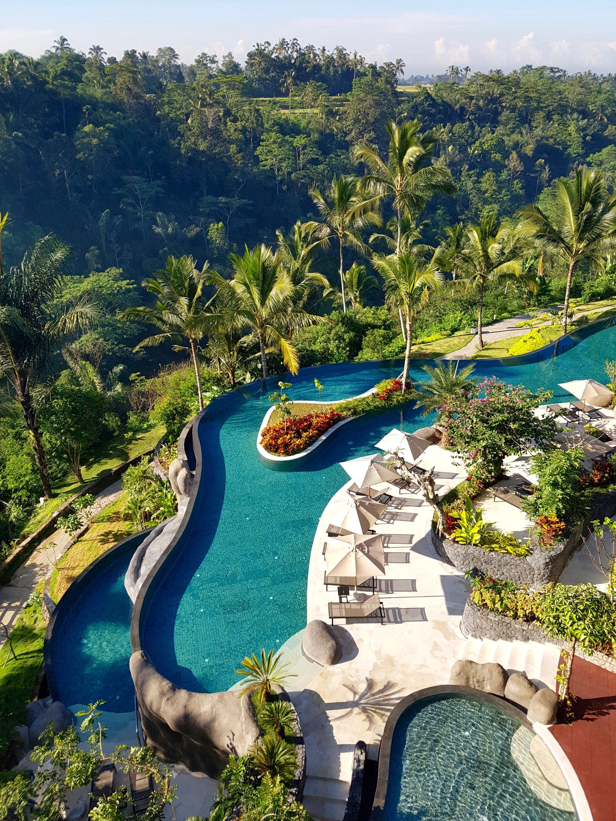 bali s longest infinity pool at padma resort ubud holiday pools in rh pinterest com