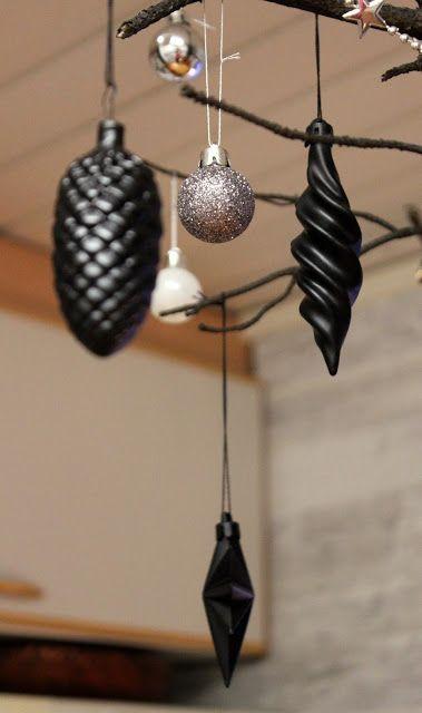 Vinttikissa: Tuunatut joulukoristeet