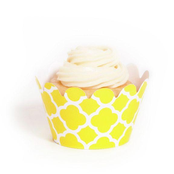 Yellow Spanish Tile Mini Cupcake Wrappers | YELLOWS | Pinterest ...