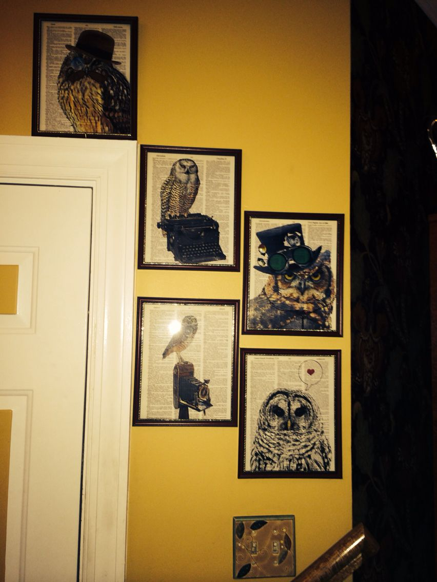 Love His Art He Works On Old Encyclopedia Pages Collageorama By Mj Dinniman These Are At My Front Door Representing Wisd Old Encyclopedias Art Gallery Wall