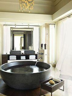 Freistehende badewanne rund  freistehende badewanne rund tief aus beton | Bad | Pinterest ...
