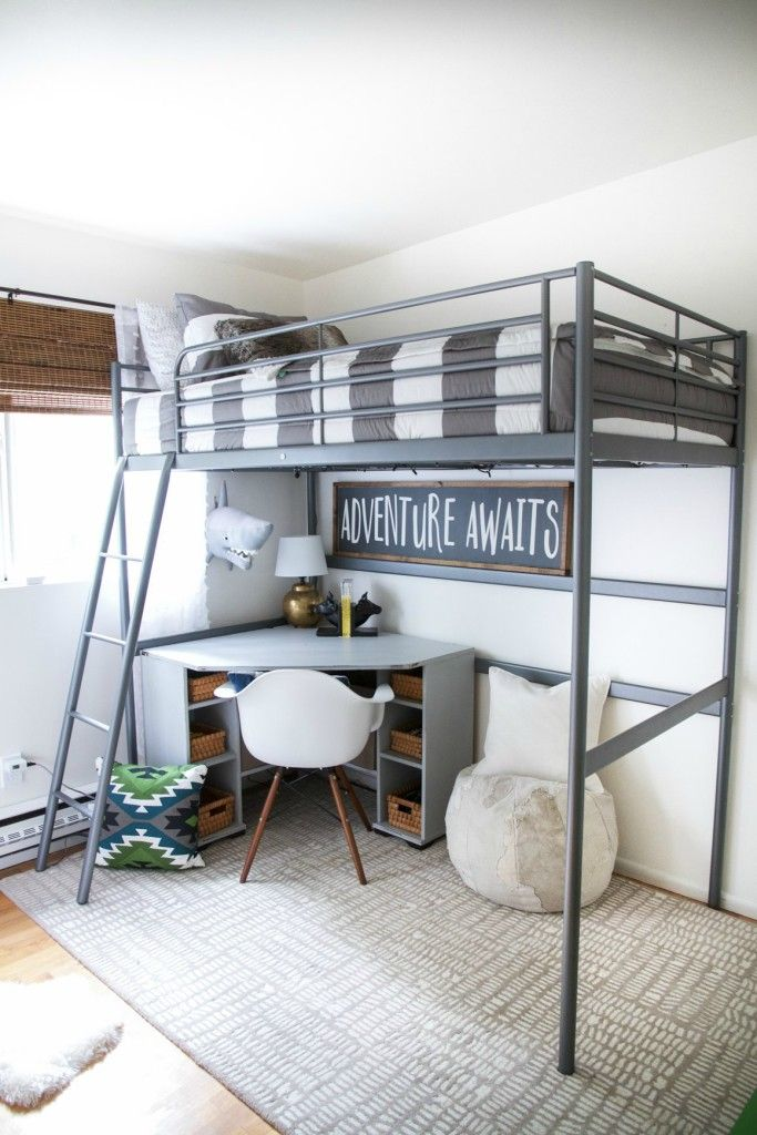 Kids Space boys bunk bed room on a budget & Kids Space on a Budget with Zevjoy | Pinterest | Bunk bed rooms Bed ...