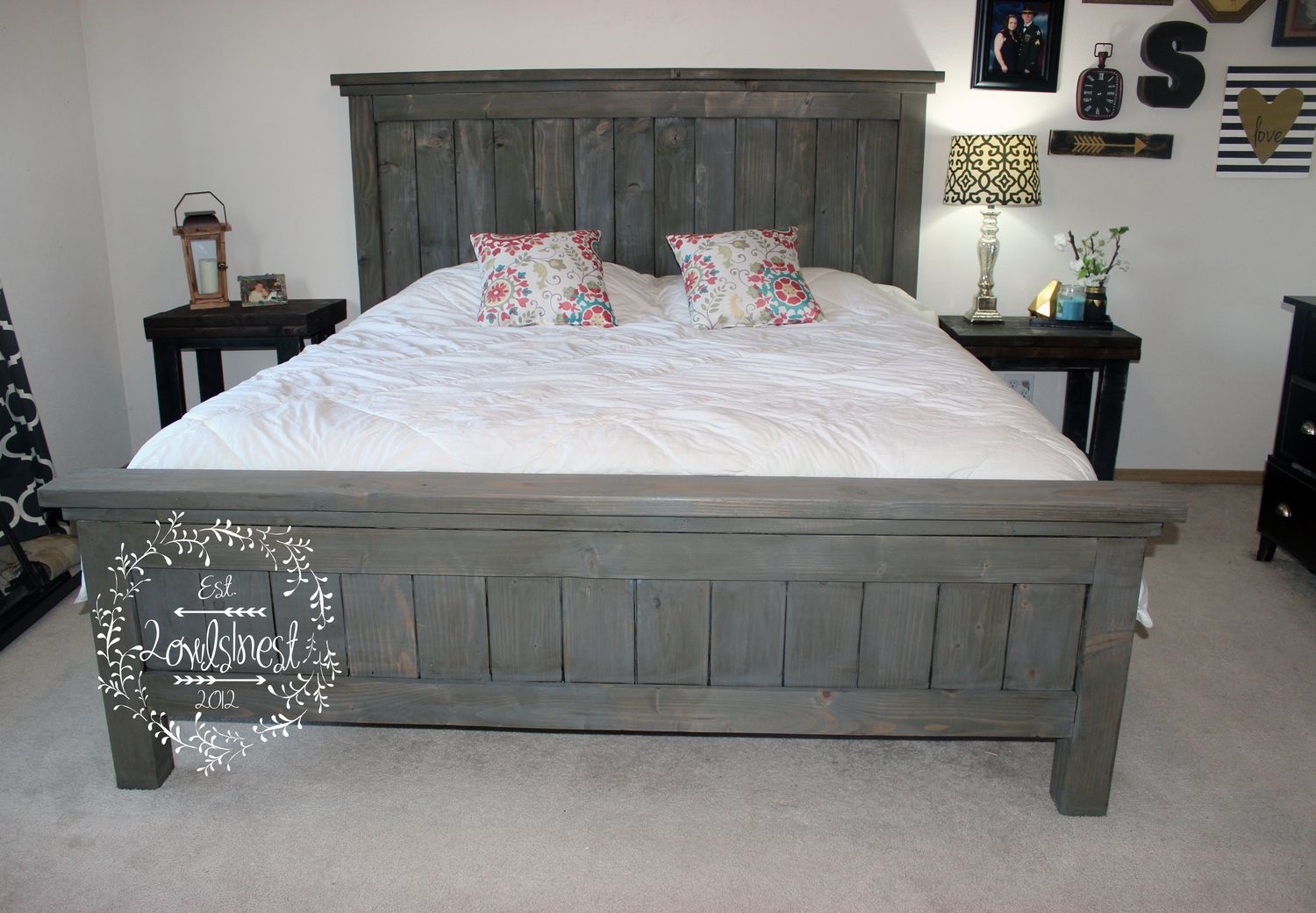 farmhouse bed frame nice on queen size