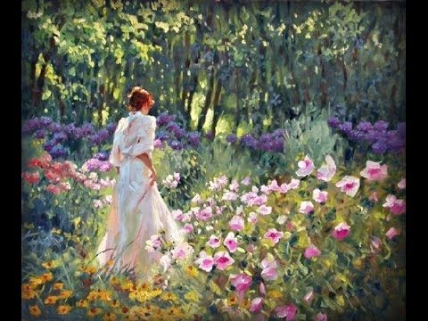 Wild Gardens And Lace Step By Step Oil Painting Tutorial /Richard Johnson  Oil Painting Recreation