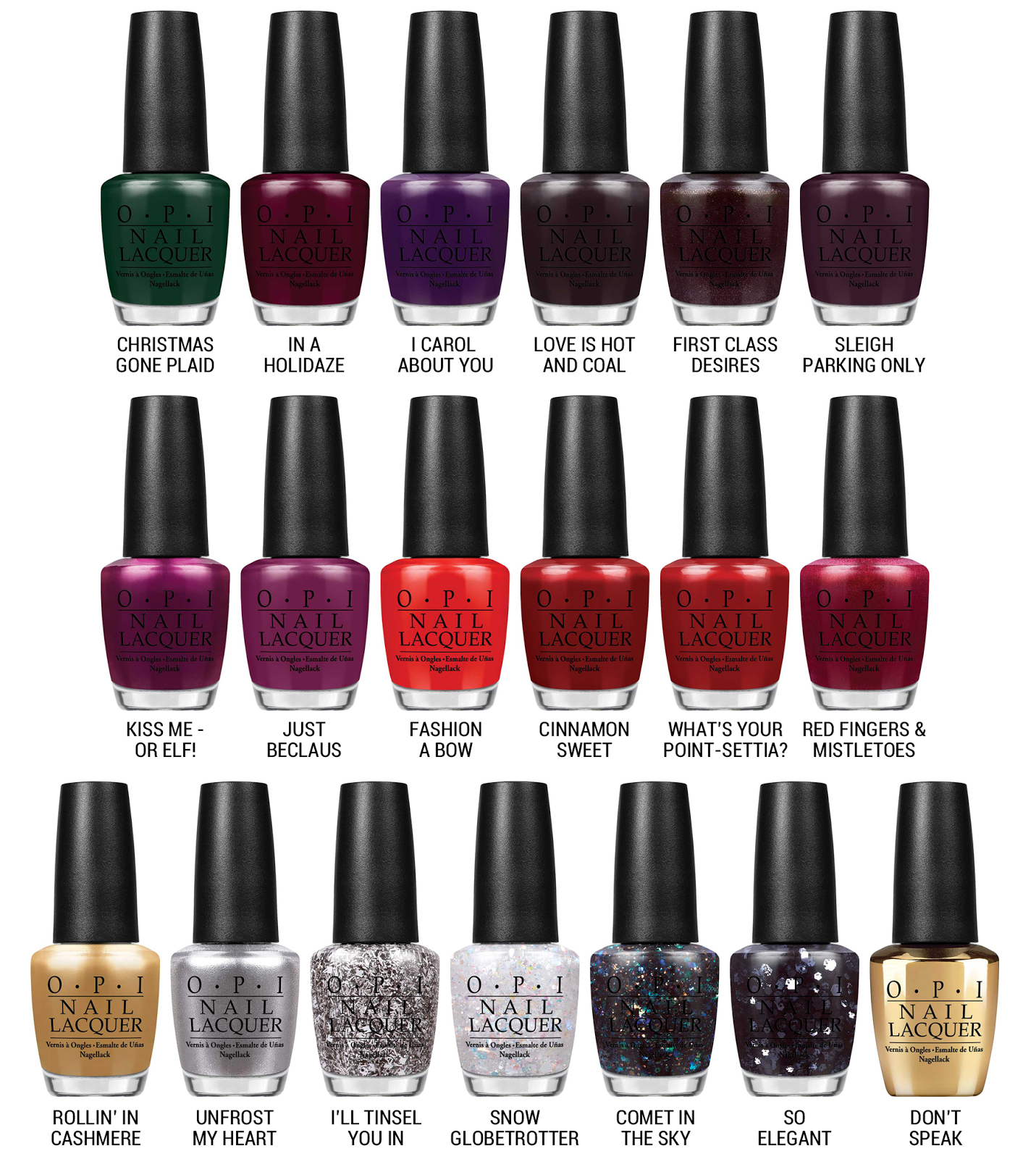 OPI x Gwen Stefani for Holiday 2014 | Holiday 2014, Gwen stefani and OPI
