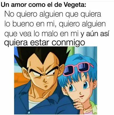 Amor Verdadero Vegeta Y Bulma Personajes De Goku Frases De Amor Anime
