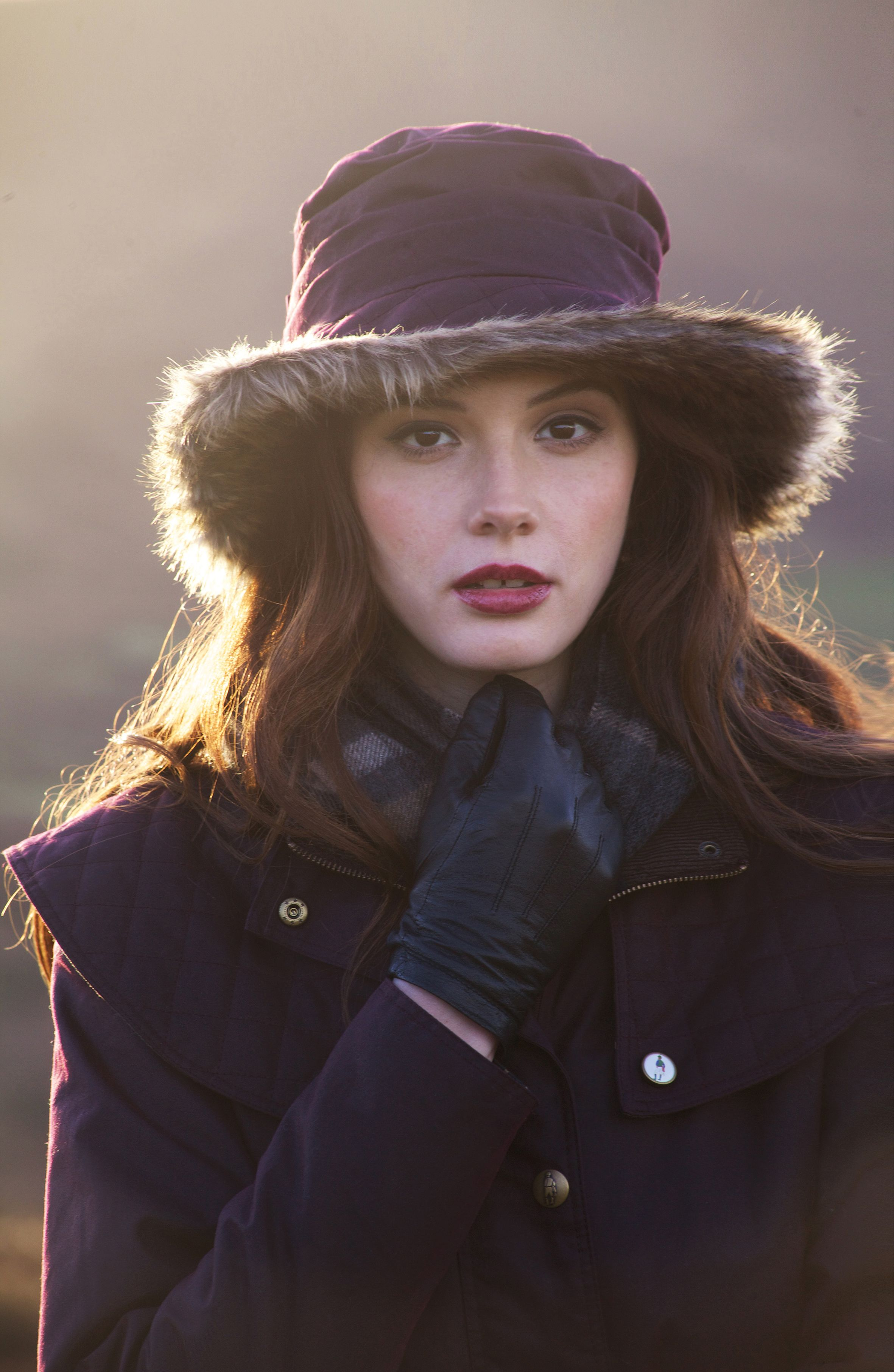 6cf04f39b Jack Murphy's RUFFOUS Waxed Hat with faux fur brim is the perfect ...