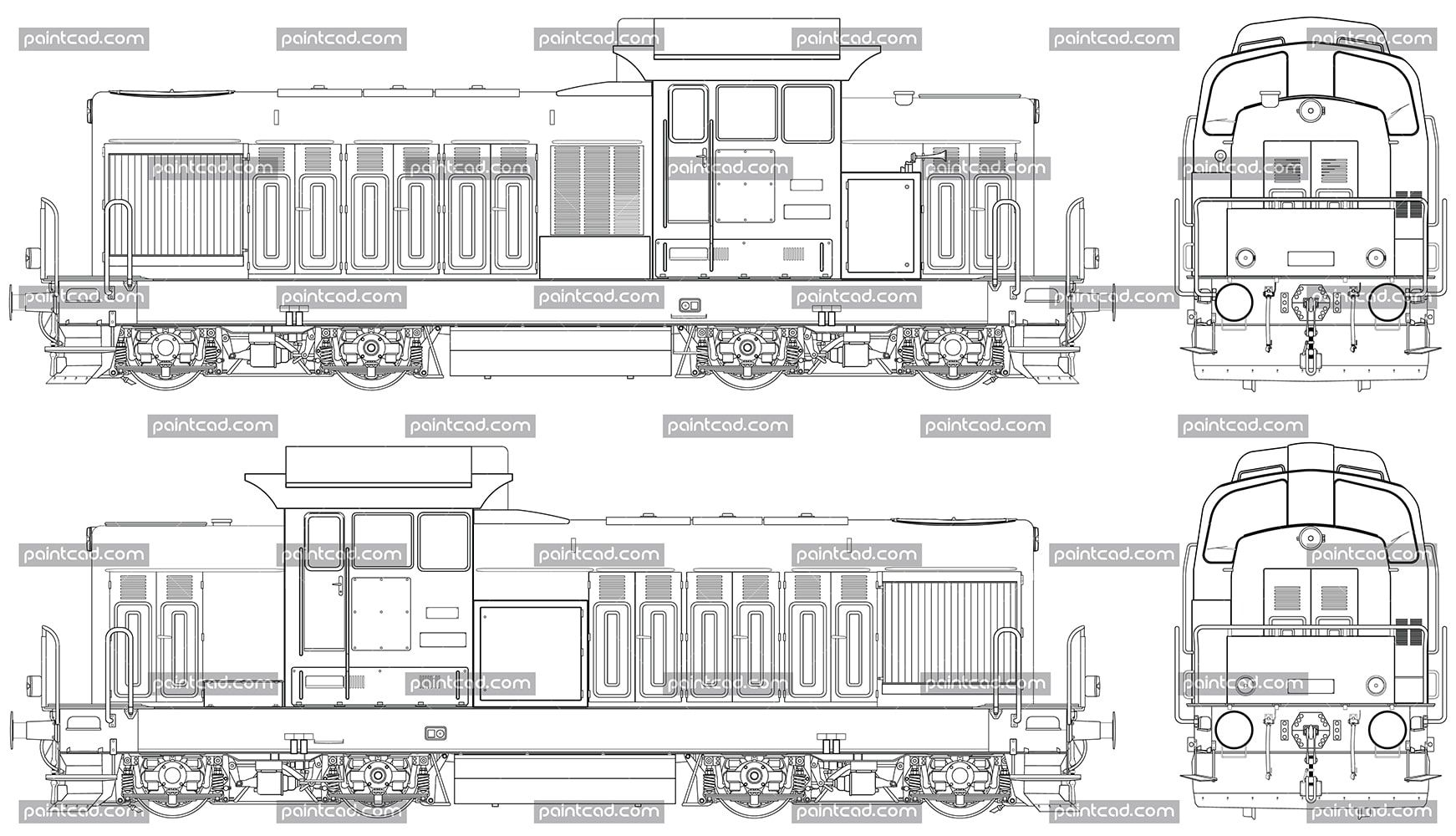 Diagram of Bulgarian diesel shunting locomotive LDH-125