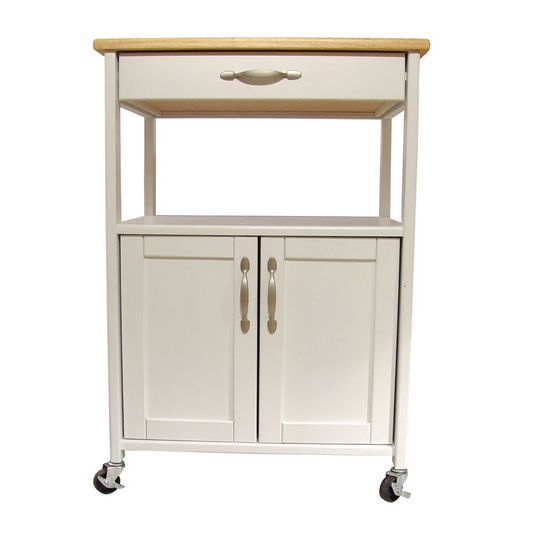 Rolling Kitchen Trolley Island Storage Cart Portable Cutting Board ...